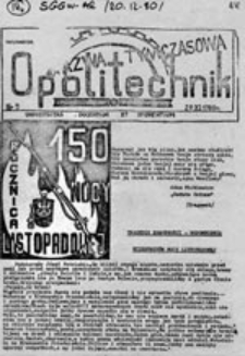 Opolitechnik: informator studencki, nr 4 (21.11.1980)