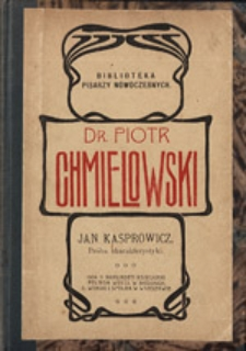 Jan Kasprowicz. Próba charakterystyki