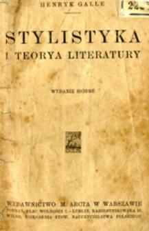 Stylistyka i teorya literatury