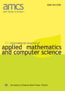 International Journal of Applied Mathematics and Computer Science (AMCS) 2004 Volume 14 Number 1