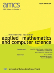 International Journal of Applied Mathematics and Computer Science (AMCS) 2003 Volume 13 Number 3