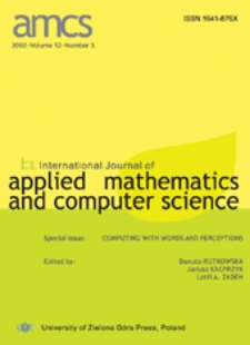 International Journal of Applied Mathematics and Computer Science (AMCS) 2002 Volume 12 Number 3