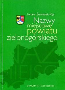 Nazwy miejscowe powiatu zielonogórskiego
