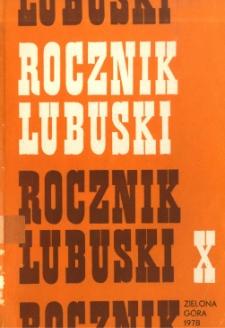 Rocznik Lubuski, tom 10 - spis treści