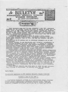 Biuletyn Niezależnego Zrzeszenia Studentów UMCS Lublin, nr 9 (maj '81)