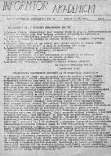 Informator Akademicki: Biuro Informacji Studenckiej NZS PL, nr 5 (25.11.1981 r.)