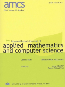 International Journal of Applied Mathematics and Computer Science (AMCS) 2008 Volume 18 Number 2