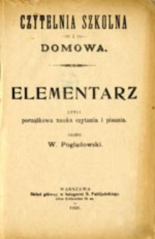 Elementarz, czyli początkowa nauka czytania i pisania
