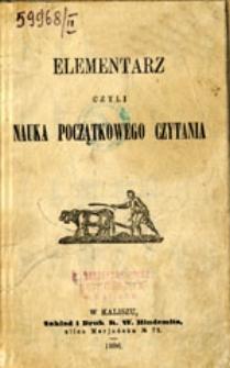 Elementarz czyli nauka początkowego czytania