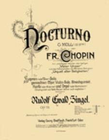 Nocturno G Moll (op. 37 No1)