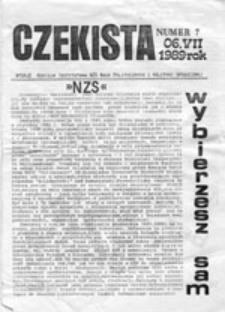 """CZEKISTA: pismo """"Niezależnego Zrzeszenia Studentów"""", nr 7 (06.VII.1989)"""