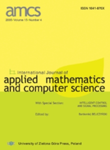 International Journal of Applied Mathematics and Computer Science (AMCS) 2005 Volume 15 Number 1