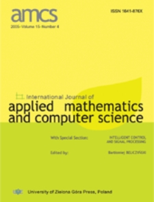 International Journal of Applied Mathematics and Computer Science (AMCS) 2012 Volume 22 Number 4