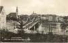 Krosno Odrzańskie / Crossen a.d. Oder; Blick vom Kirchhof auf Oderbrücke und Stadt