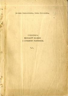Bibliografia przekładów polskich z literatury francuskiej, T. 1