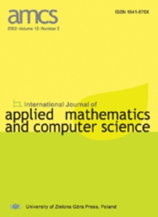 International Journal of Applied Mathematics and Computer Science (AMCS) 2002 Volume 12 Number 2