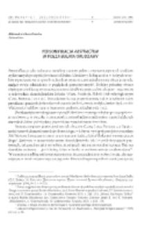 """Personifikacja """"abstractum"""" w poezji Bułata Okudżawy"""