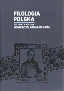 Filologia Polska. Roczniki Naukowe Uniwersytetu Zielonogórskiego, 2017, z. 3