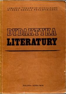 Dydaktyka Literatury, t. 3 - spis treści