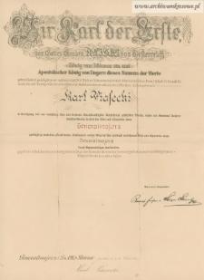 Karol Piasecki - patent generalski