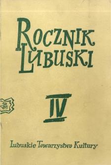 Rocznik Lubuski, tom 4 - spis treści