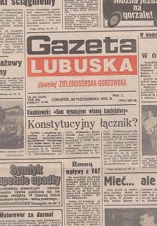 Gazeta Lubuska : dawniej Zielonogórska-Gorzowska R. XLI [właśc. XLII], nr 75 (30 marca 1993). - Wyd. 1