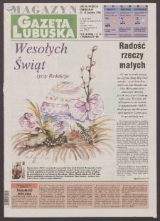 Gazeta Lubuska : magazyn R. XLVIII [właśc. XLIX], nr 96 (22/23/24 kwietnia 2000). - Wyd. A
