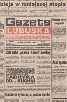Gazeta Lubuska : dawniej Zielonogórska-Gorzowska R. XLIV [właśc. XLV], nr 39 (15 lutego 1996). - Wyd. 1