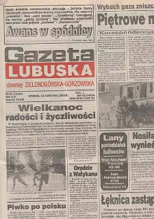 Gazeta Lubuska : magazyn : dawniej Zielonogórska-Gorzowska R. XLIII [właśc. XLVI], nr 42 (18/19 lutego 1995). - Wyd. 1
