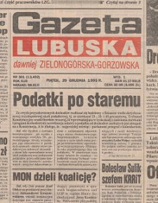 Gazeta Lubuska : dawniej Zielonogórska-Gorzowska R. XLIII [właśc. XLIV], nr 162 (14 lipca 1995). - Wyd. 1