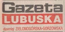 Gazeta Lubuska : dawniej Zielonogórska-Gorzowska R. XLIII [właśc. XLIV], nr 245 (20 października 1995). - Wyd. 1