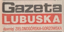 Gazeta Lubuska : magazyn środa : dawniej Zielonogórska-Gorzowska R. XLIII [właśc. XLIV], nr 249 (25 października 1995). - Wyd. 1