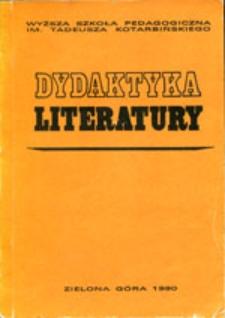 Dydaktyka Literatury, t. 11 - spis treści