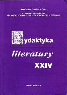 Dydaktyka Literatury, t. 24 - spis treści