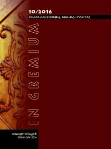 In Gremium : studia nad historią, kulturą i polityką, tom 10 - spis treści