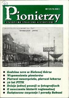 Pionierzy: czasopismo społeczno - historyczne, R. 1, 1996, nr 1 (1)
