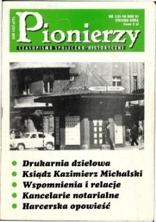 Pionierzy: czasopismo społeczno - historyczne, R. 3, 1998, nr 1 (5)