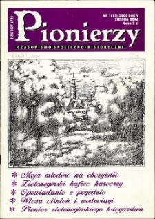 Pionierzy: czasopismo społeczno - historyczne, R. 5, 2000, nr 1 (11)
