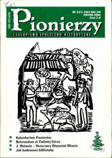 Pionierzy: czasopismo społeczno - historyczne, R. 8, 2003, nr 3 (21)