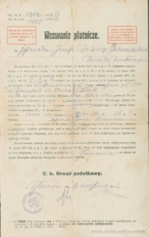 Józef Czerniecki, Jadwiga Czerniecka - Wezwanie płatnicze
