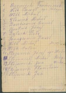 Franciszek Czerniecki - [lista nazwisk osób z Kozaków]