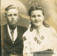 Kolega i koleżanka Zofii Czernieckiej, córki Andrzeja - fotografia