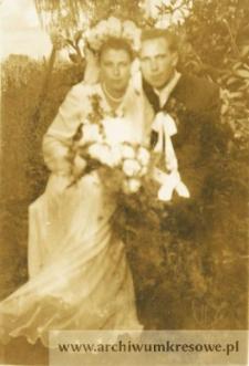 Józefa Czerniecka, córka Andrzeja i Bronisław Stojanowski - fotografia ślubna
