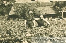 Zofia Pańczyszyn w ogrodzie - fotografia