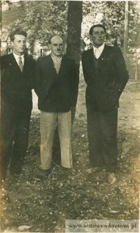 Jan Pańczyszyn i Józef Suprun z kolegą - fotografia