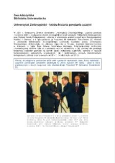 Uniwersytet Zielonogórski - krótka historia powstania uczelni