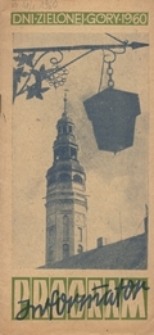 Dni Zielonej Góry 1960: program: informator