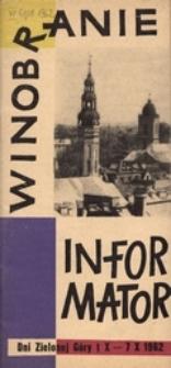 Dni Zielonej Góry 1962: informator