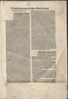 Scripta super quattuor libros sententiarum. [Vol. 1], Tabula in quattuor scripta Alberti magni ... ; Scriptum primum diui Alberti magni ordinis predicatorum Ratispone[n]sis episcopi super primum sententiarum