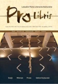 Pro Libris: Lubuskie Pismo Literacko-Kulturalne, nr 2 (2002)